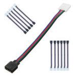Оригинал LEORY 10Pcs / Lot 4Pin 10MM RGB Led Коннектор Провод Женский Коннектор Кабель для 3528/5050 SMD не водонепроницаемый RGB Led светодиод