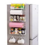 Оригинал Над дверью Стеллаж для хранения морозильной камеры Кухня Кладовая Специи Организаторы Полка Корзина Экономия места
