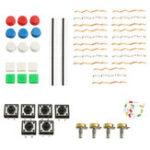 Оригинал 3шт универсальный комплект компонентов пакета Набор A1 для Arduino проекта с резистором + Botton + регулируемый потенциометр