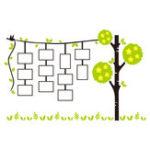Оригинал 83 * 130 см Растение Дерево 3D Акриловые Наклейки На Стены Фоторамка Фоторамка Home Decor