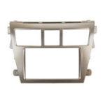 Оригинал Стерео панель автомобиля 2 Din Серебряная рамка для Toyota Vios Yaris Седан Belta