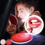 Оригинал Bakeey Portable Mini LED Макияж Зеркало Беспроводное зарядное устройство для Samsung Xiaomi Huawei