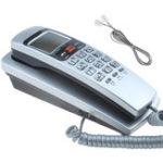 Оригинал Мини настенный телефон Dual Caller ID DTMF / FSK Домашний офис Отель Входящие воспоминания Идентификатор вызывающего абонента Обратный звонок LCD Дис