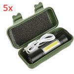 Оригинал 5шт.XANES1518XPE+ COB 2 лампы 1000 люмен 3 режима USB аккумуляторная яркость EDC LED фонарик костюм