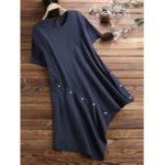 Оригинал Женская хлопковая блузка с коротким рукавом