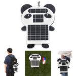 Оригинал 6 Вт 5V Портативный Panda Форма Монокристаллический ПЭТ Солнечная Панель с портом USB