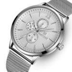 Оригинал NAVIFORCE3003ВодонепроницаемыРабочиемаленькиециферблаты Мужские часы