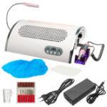 Оригинал 100-240 В 3 в 1 25000 об / мин Электрический Ногти Дрель Art Set Пылесборник Всасывающая Машина с Лампа
