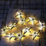 Оригинал 1.65M Батарея Powered 10PCS Eid Ramadan LED Звездной Формы Свет Строка Крытый Партия Декор