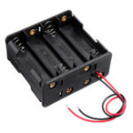 Оригинал 4 слота № 5 Батарея держатель пластик Чехол хранения Коробка для 4 * № 5 Батарея