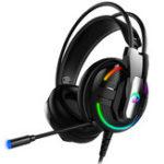 Оригинал A18 Colorful Luminous Gaming Наушник Стерео 3,5 мм Проводная гарнитура LED E-Sports Наушники с микрофоном