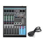 Оригинал Консоль звукового микшера 250В 13Вт USB с записью Bluetooth в режиме реального времени 48В Phantom Питание 4 канала