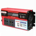 Оригинал 4000 Вт постоянного тока 12 В / 24 В в переменный ток 220 В Инвертор цифровой модифицированный синусоида 4 USB порт 2 розетки