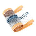 Оригинал 200шт 1 / 4W 10K Ohm Resist +/- 1% 1 / 4w 10KR Ohm Металлические пленочные резисторы 0.25W Вт Цветовое сопротивление кольца Углеродная пленка