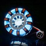 Оригинал MK2 Нержавеющая сталь Дистанционный Вер. Тони DIY дуговой реактор Лампа Набор Дистанционное Управление Источник света LED Flash Набор света