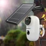 Оригинал GUUDGOA3иСолнечнаяПанельБеспроводная перезаряжаемая батарея Security камера для На открытом воздухе Домашнее видеонаблюдение в