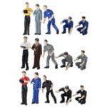 Оригинал 1 х 5 Шт. / Компл. 1: 64 Рисунок Техник Группа Ремонт Люди Модель Мужчины Сценарий Моделирование