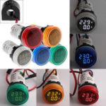 Оригинал 2in1 22 мм AC50-500V 0-100A Амперметр Вольтметр Амперметр Напряжение Текущий измеритель тока с CT Au23