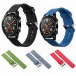 Оригинал Bakeey20mmЗаменаСиликоновыйЧасыс пряжкой из нержавеющей стали Стандарты Ремешок для Huawei Часы GT Smart Watch
