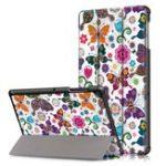 Оригинал   Тройной сгиб планшета для печати Чехол Чехол для планшета Samsung Galaxy Tab S5E SM-T720 SM-T725 – Бабочка