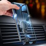 Оригинал FlovemeGravityLinkageАвтоматическаяЗамокВращающаяся на 360º вентиляционная решетка Авто Держатель телефона для смартфонов 4.0-6.8 дюймов iPhone Samsung