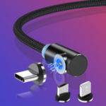 Оригинал TOPK 2.1A Магнитный Локоть Micro USB Кабель для быстрой зарядки данных для Xiaomi HUAWEI Honor Android Телефон