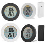 Оригинал Round ABS Wireless Sensor Home Use Digital Indoor Outdoor Thermometer Temperature Monitor Neutral LCD Display