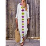 Оригинал Women V-neck Bohemian Floral Maxi Dress