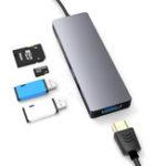 Оригинал Lingchen5в1настольноммногофункциональном USB-концентраторе Type-C с 2 портами USB3.0 / 4K HD / устройство чтения карт памяти TF