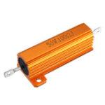 Оригинал RX24 50W 100R 100RJ Металлический алюминий Чехол Резистор высокой мощности Золотой металлический корпус Чехол Резистор радиатора