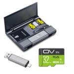 Оригинал КартабольшойемкостиКавауКоробка+ Тип-USB USB 3.0 Устройство чтения карт Micro USB + Ключ для извлечения штырька + OV Карта памяти 32GB