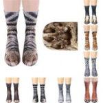 Оригинал  Креатив3D-принтДлявзрослыхЖивотнаялапа Носки Унисекс Экипаж Кот Длинные Трубка Запасы Эластичный дышащий носок Собака Тигр Zebra Свин