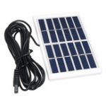Оригинал 1.2W 6V Mini Portable Поликристаллическая панель Солнечная с пластиковой рамкой + 5521 DC интерфейсный кабель