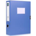 Оригинал Deli 5604 1 Шт. 4-дюймовый Пластиковый Файл Коробка Склеивающая Пряжка Файл Бумажного Документа Коробка Хранение Коробка Папка Office Школа Постав