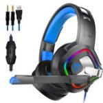 Оригинал A66 PS4 Игровые наушники 4D Stereo RGB Светодиодный Гарнитура с шумоподавлением, встроенная Наушник с микрофоном