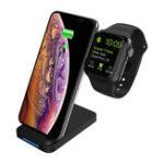Оригинал 10 Вт Интеллектуальное Распознавание QI Беспроводное Зарядное Устройство Телефон Часы Держатель для Samsung Xiaomi Huawei