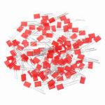 Оригинал 100шт 2 * 5 * 7мм квадрат LED красный светодиод 2X5X7 LED
