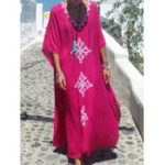 Оригинал Bohemian Floral Kaftan Maxi Dress