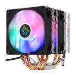 Оригинал 3-контактный двойной вентилятор Четыре тепловых трубки Colorful Светодиодный Радиатор охлаждения радиатора вентилятора охлаждения процессор