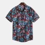 Оригинал Мужские Винтаж летние каникулы цветочные принты гавайские рубашки
