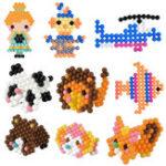 Оригинал 6500 Шт. 30 Цвет Аква Пополнения DIY Бусины Предохранителей Бусины Воды Perler Липкие Детские Игрушки