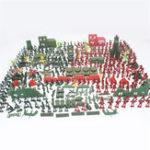 Оригинал 330шт Военный Пластиковая модель Playset Toy Soldiers Фигурки и аксессуары Детские игрушки