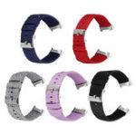 Оригинал Bakeey Colorful Nylon Мужские часы для замены холста Стандарты Ремешок для Fitbit Charge 3 Smart Watch