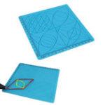 Оригинал Синяя 3D-печать C-типа Ручка Рисунок Набор Силиконовый Дизайн Коврик с базовым шаблоном + 2 шт. Изоляция Силиконовый Крышки для пальцев Набор