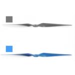 Оригинал Sunnysky EOLO 13 дюймов 13 * 7 Винт 30-70E Лопасть CW Опора Синий / Серый Для RC Самолета Фиксированное крыло