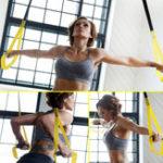Оригинал Комплект TRX Yoga Фитнес Ленты сопротивления висячие Ремень Suspensio