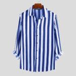 Оригинал Мужскаяповседневнаяделоваярубашкасдлинным рукавом Classic Рубашки в полоску
