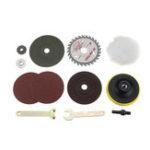 Оригинал Конверсионный хвостовик Drillpro 9 мм M10 оправка оправки для полировки шлифовка, шлифовка, резка Инструмент Принадлежности Смена электродрели