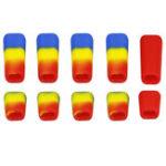Оригинал 10 ШТ. LDARC Резиновый Передатчик Противоскользящий Переключатель Оболочка Cap Colorful для Flysky JR Радио Передатчик