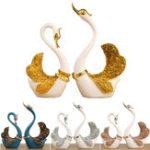 Оригинал Пара Swan Украшение Дома Украшения Гостиной ТВ Шкаф Аксессуары Свадебное Подарки